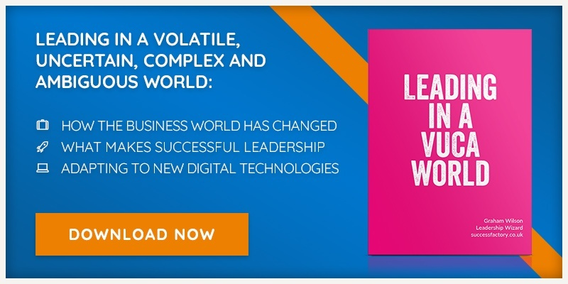 Download our free eBook - Leading in a Volatile, Uncertain, Complex and Ambiguous World.