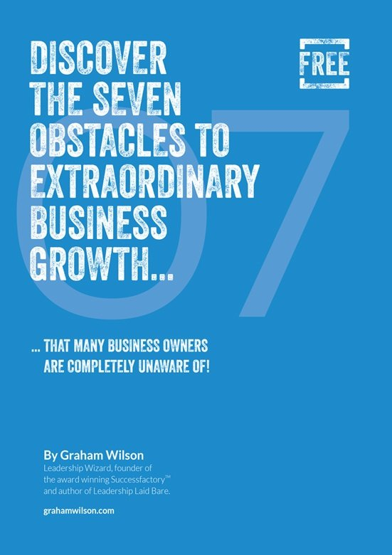 Seven Obstacles To Extraordinary Growth Front Cover